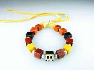 木人軒 Square skull bracelet